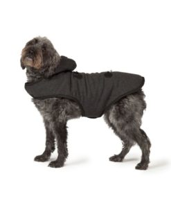 Black Duffle Dog Coat_