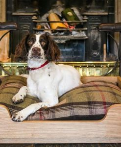 Solid Oak Luxury Floor Dog Bed hand carved