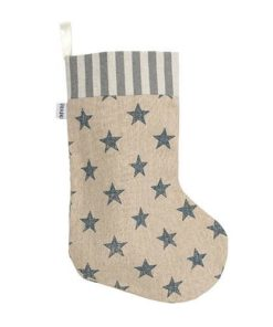 Stars and stripes cream dog's Christmas stocking