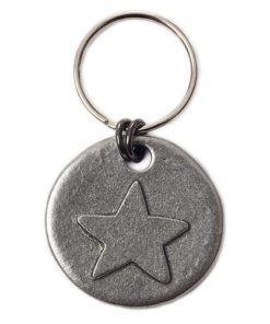 Pewter dog ID tag