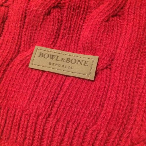 Bowl and bone red dog jumper - pure wool