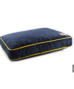 Blue Corduroy boxed dog cushion