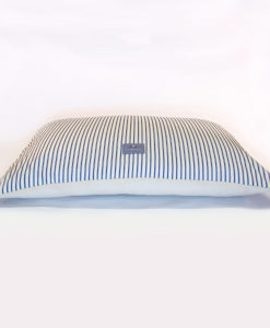 Ticking stripe fleece cushion