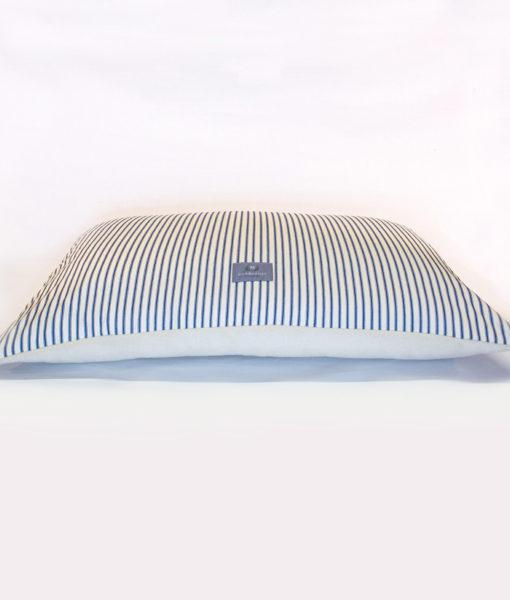 Ticking stripe fleece cushion