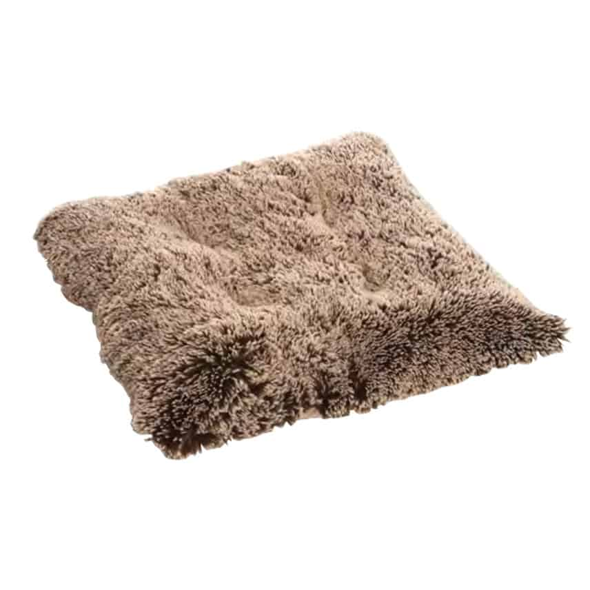 Brown fluffy dog pad - Pooch pad