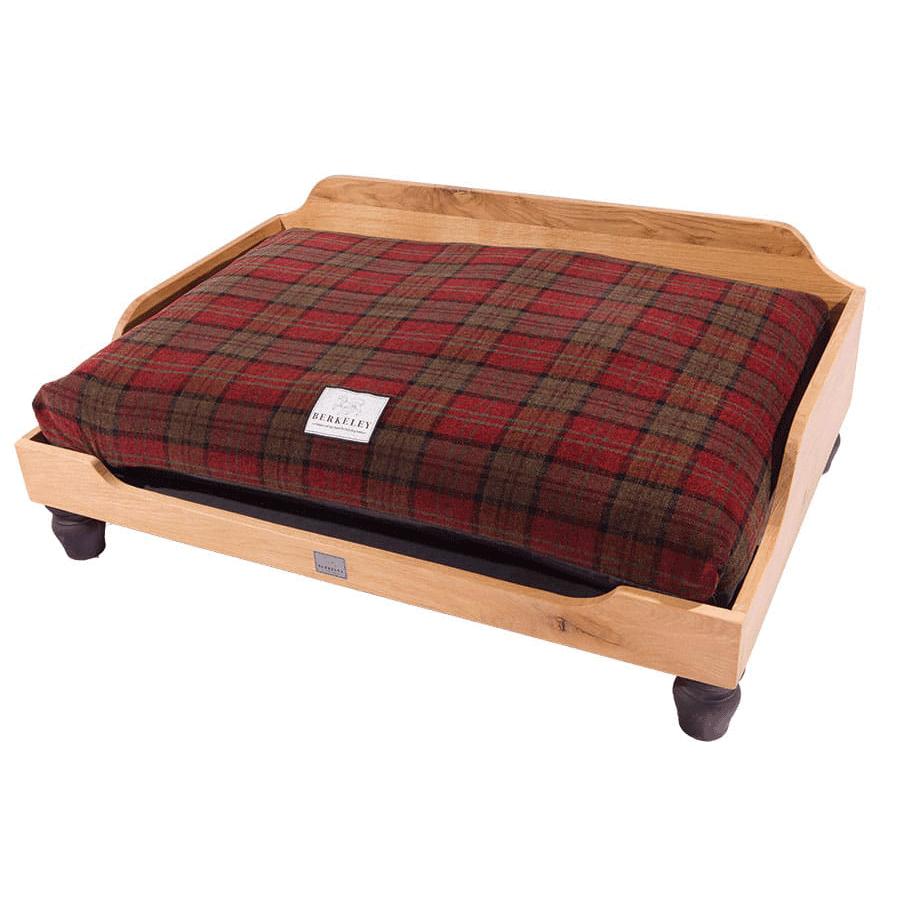 Raised Wooden Dog Beds Oak Raised Dog Beds And Cushion