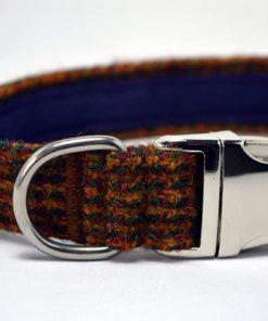 Brown Mix Harris Tweed Dog Collar