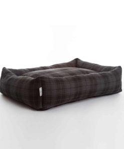 Highlander check luxury bolster bed. Luxury Dog Beds UK