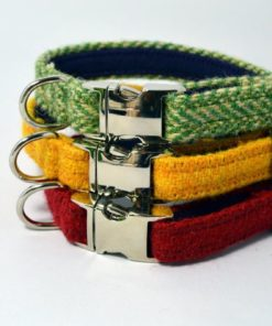 Harris Tweed puppy collars