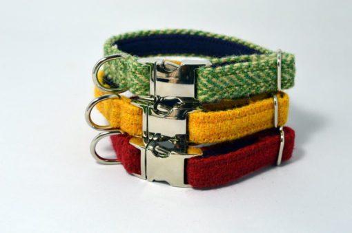 Harris Tweed puppy collars