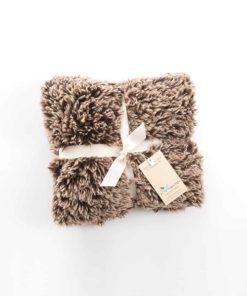 Brown Beige Shaggy Blanket
