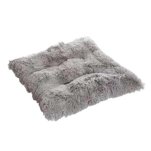 Silver grey Fluffy dog pad - Pooch pad. Luxury dog cushion