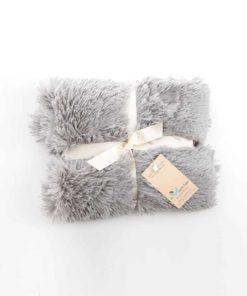 Silver Shaggy Blanket