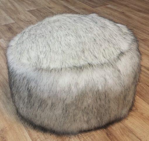 Alaska Faux Fur Pouffe