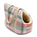 Macaroon Check Tweed Dog Carrier