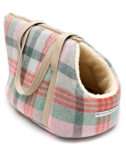 Macaroon Check Tweed Dog Carrier