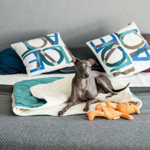 Bowl and Bone Luxury Grey Dog Sleeping Bag