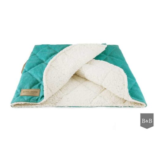 Bowl and Bone Luxury Mint Dog Sleeping Bag