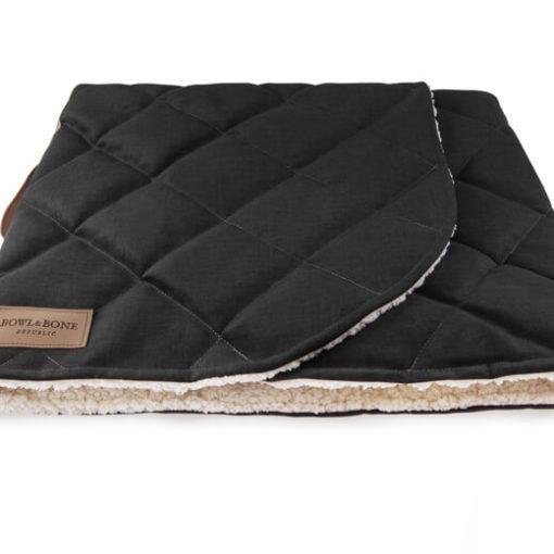 Bowl and Bone Luxury Black Dog Sleeping Bag