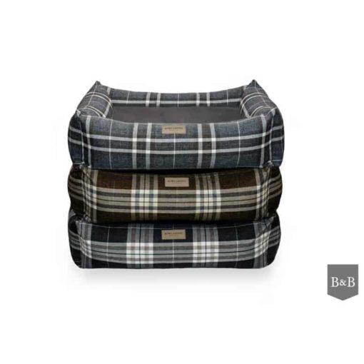 Scott bolster dog bed. Luxury Dog Beds UK
