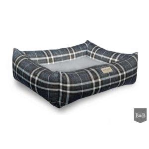 Blue Scott bolster dog bed