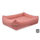 Bowl and Bone Coral Bolster Dog Bed LOFT