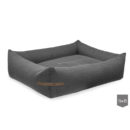 Bowl and Bone Graphite Bolster Dog Bed LOFT
