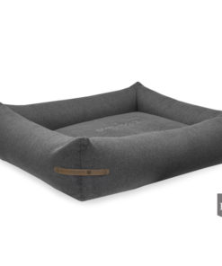 Bowl and Bone Graphite Bolster Dog Bed LOFT. Luxury Dog Beds UK