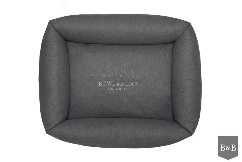 Bowl and Bone Graphite Bolster Dog Bed LOFT