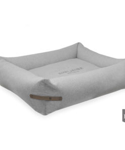 Bowl and Bone Grey Bolster Dog Bed LOFT