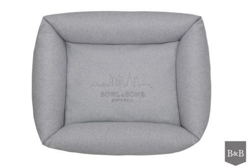 Bowl and Bone Grey Bolster Dog Bed LOFT
