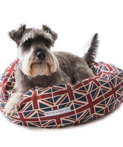 Union Jack Print Donut dog Bed