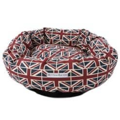 Union Jack Print Donut dog Bed