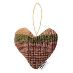 Grape Check Tweed Lavender Heart