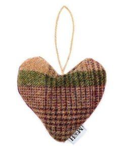 Grape Check Tweed Lavender Heart