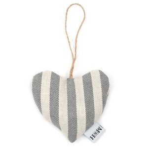 Flint Stripe Brushed Cotton Lavender Heart