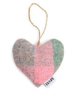 Macaroon Check Tweed Lavender Heart