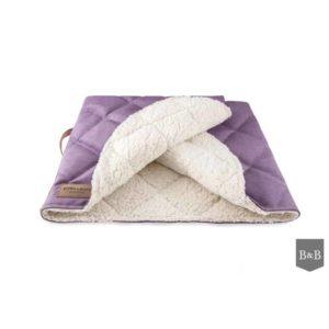 Bowl and Bone Luxury Lavender Dog Sleeping Bag