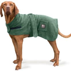 Dog dressing gown. After bath drying gown