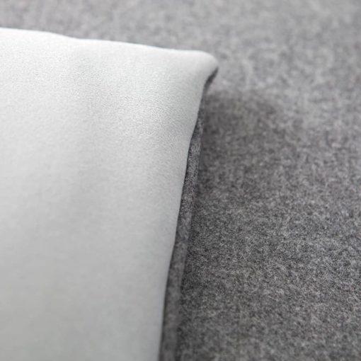 Classic grey wool sofa topper