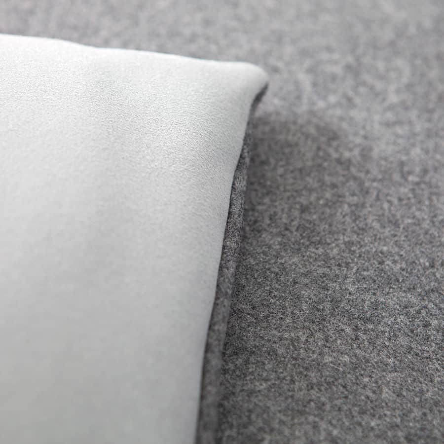 Classic grey wool sofa topper