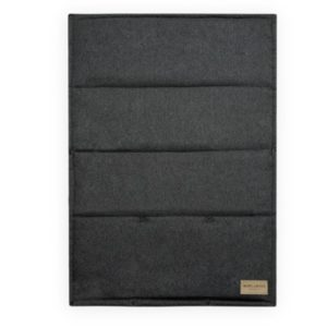 Portable graphite grey LOFT dog mat