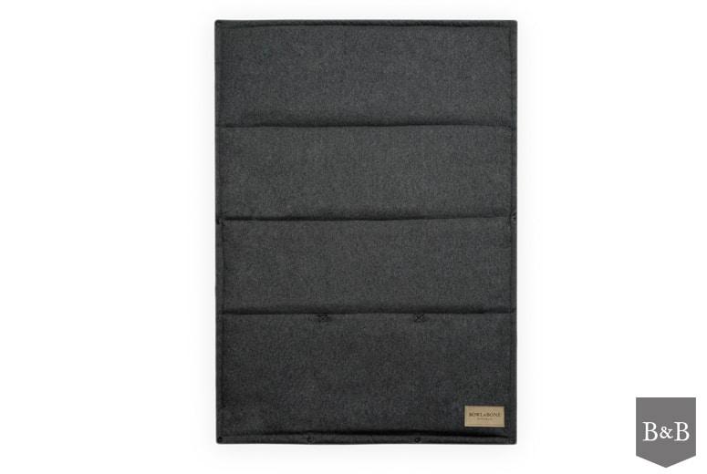 Portable graphite grey LOFT dog mat