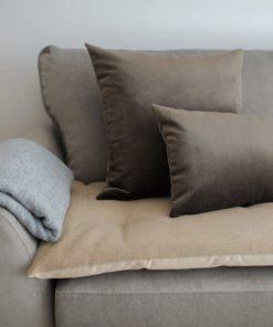 Luxury Wool Sofa Topper in Camel