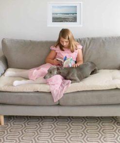Classic Ecru wool sofa topper