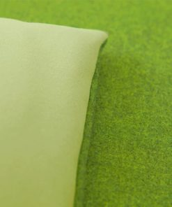 Lime green wool sofa topper