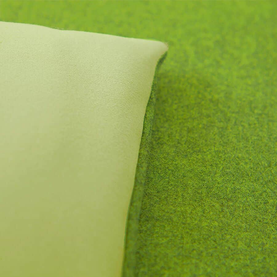 Lime green wool sofa topper
