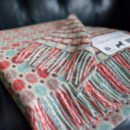 Summertime pure new wool throw blanket