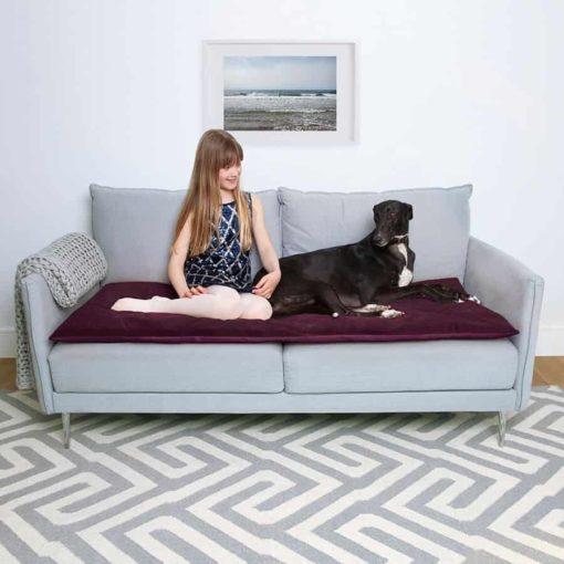 Purple Plum Velvet Luxury Sofa Topper