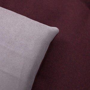 Classic damson wool sofa topper